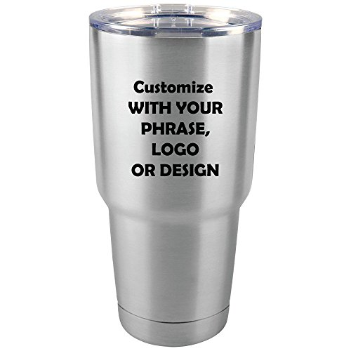 Personalized 30 oz Tumbler | Custom Monogram Insulated Travel Mug | Available In 7 Colors and Stainless Steel Monogram Travel Mugs