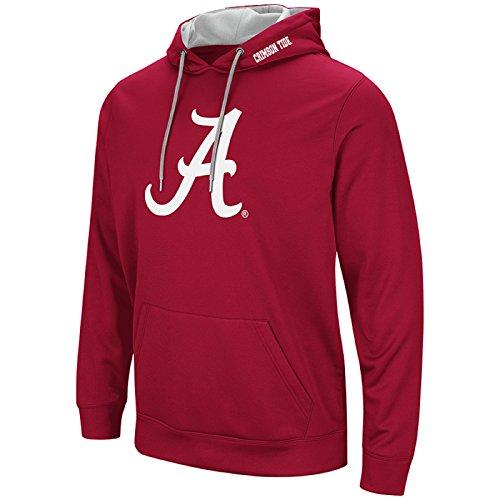 Colosseum Mens Ncaa Elite Zone Pullover Hoodie Sweatshirt Alabama Crimson Tide Crimson Xxl