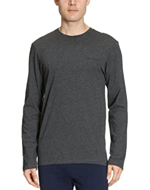 Calvin Klein Long-Sleeve Logo Grey Men's T-Shirt