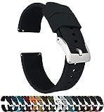 Barton Elite Silicone Watch Bands - Quick Release - Choose Strap Color & Width - Black 22mm