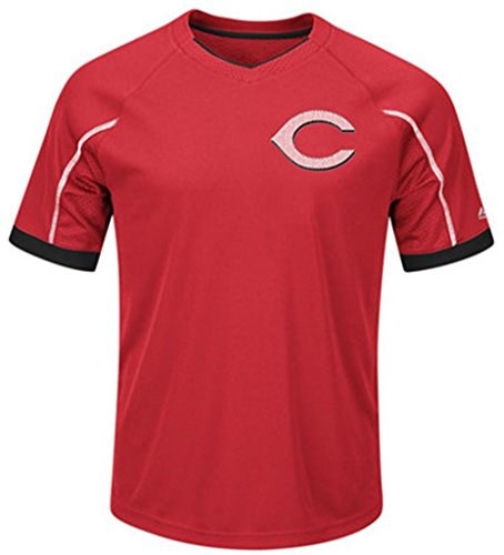 VF Cincinnati Reds MLB Majestic Mens Cool Base Emergence Shirt Big & Tall Sizes (5XL)