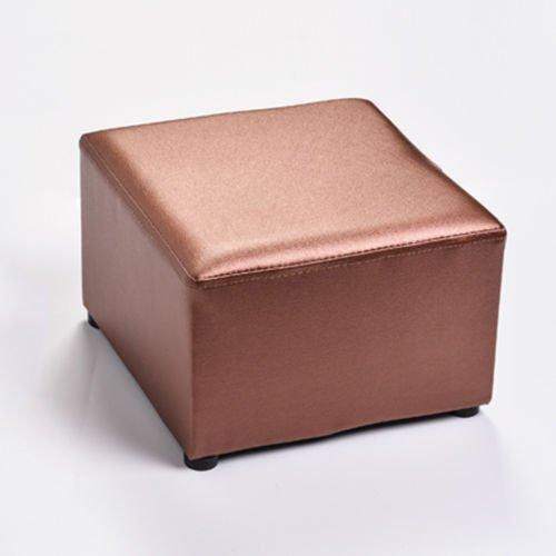FidgetGear Luxury PU Leather Footstool Ottoman Pouffe Stool Foot Rest Padded Seat Square by FidgetGear