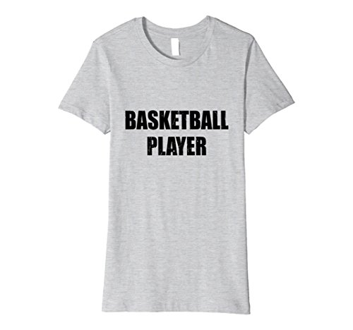 Basketball Player Costume Female (Womens Basketball Player Shirt Halloween Costume Funny Distressed Small Heather Grey)