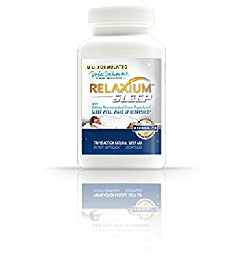 Relaxium Sleep - #1 Doctor Developed, All-Natural Sleep Aid - Non-Habit Forming Sleep Aid with Melatonin, Chamomile extract, Passion Flower and more! - 60 count