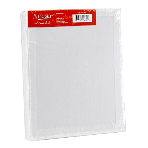 Artlicious - 30 Classroom Value Pack - 8x10 Primed Canvas Panel Boards by Artlicious (Image #2)