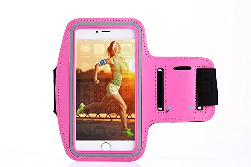 Cell Phone Armband Sports Running   Exercise Case For Iphone 7  6  6S  Se And Samsung Galaxy S6 S7 Google Pixel   Adjustable Reflective Velcro Workout Band Rose Red
