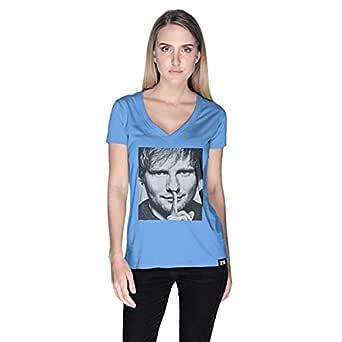 Creo Ed Sheeran T-Shirt For Women - S, Blue
