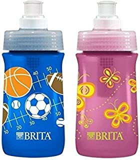 brita soft squeeze water filter bottle for kids variety 2 pack navy blue sports