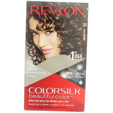 (Revlon ColorSilk Permanent Color, Dark Brown 30)