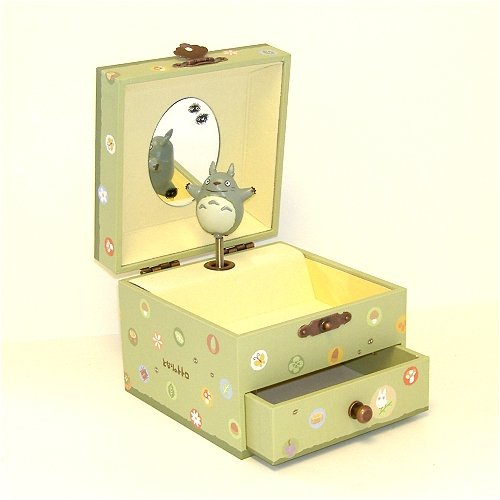 Studio Ghibli My Neighbor Totoro Music Box with a Drawer by Totoro