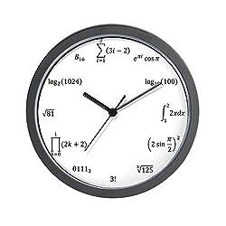 CafePress Math Equation and Notation Clock Unique Decorative 10 Wall Clock