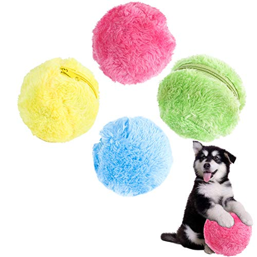 (Luck Dawn Magic Roller Ball Toy, Automatic Roller Ball Electric Dust Cleaner, 1 Rolling Ball+4 Ball Covers )