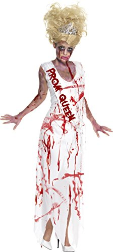[Smiffys Women's High School Horror Zombie Prom Queen Costume] (Zombie Queen Costumes)
