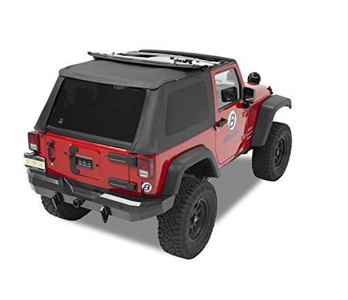 Soft Hardware Top (Bestop 56822-35 Black Diamond Trektop NX Complete Frameless Replacement Soft Top with Sunrider Sunroof Feature for 2007-2017 Wrangler 2-Door DISCONTINUED BY MANUFACTURER)