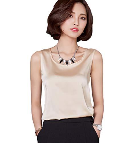 Yiiquanan Senza Donna Elegante Asia as Top Canotta Casual Manica Photo Bluse Spalline Girocollo Maglietta Xl 1 UUBr5Wqwd