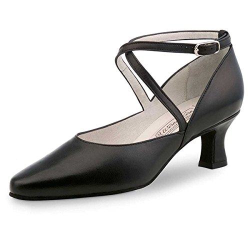 Werner Kern Ladies Dance Shoes Shirley - Black Leather - 5.5 cm LYB4E