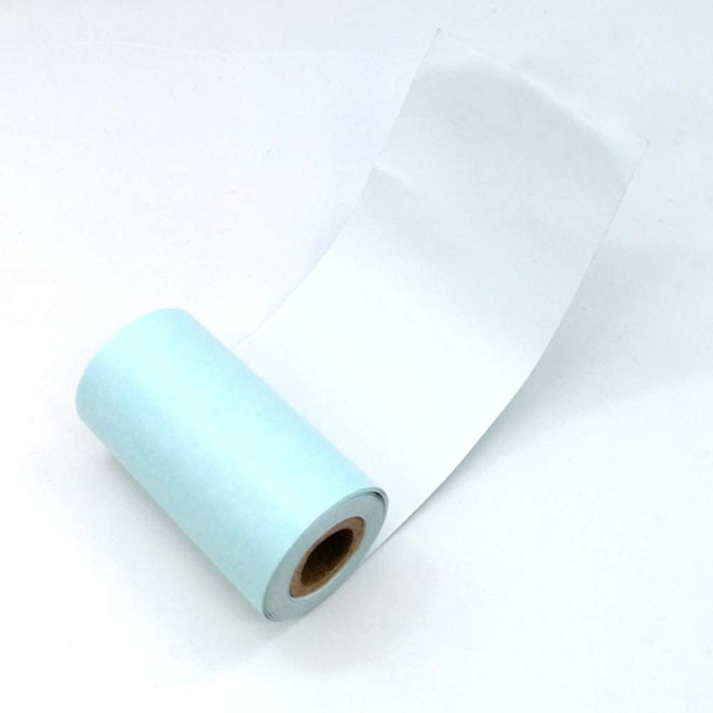 newhashiqi Thermo-Aufkleber Papier 3 Rollen Paperx P1 57x30mm Selbstklebend Thermo-Aufkleber Thermo Druckerpapier Spezial Selbstklebendes Druckpapier wei/ß