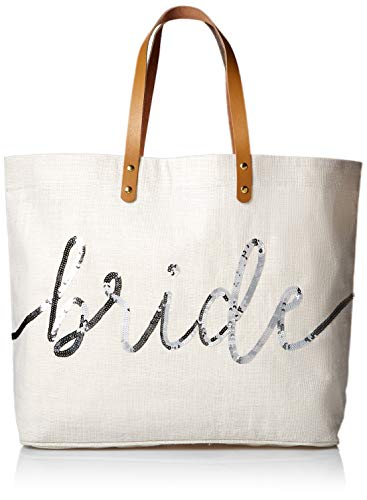 Mud Pie Silver Sequin Bride Tote