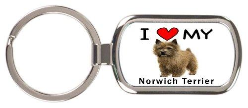Norwich Terrier Keychain - I Love My Norwich Terrier Key Chain