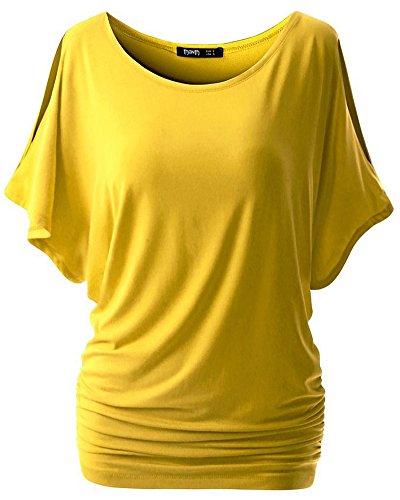 Liqy - Camiseta sin mangas - para mujer amarillo