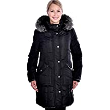 RedX Canada Women's Long Parka with Faux Fur Lined Hood