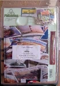Philatéma - Kit de filatelia (archivador, lupa, pinza y 210 sellos)