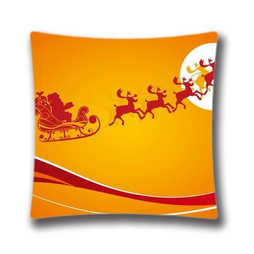 Pop Home Creative Fashion Lino y Algodón Square decorativo Throw almohada cover Christmas Gold Árbol de Navidad 45,7x...
