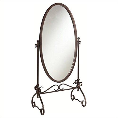 Metal Floor Mirror - Linon Clarisse Metal Mirror