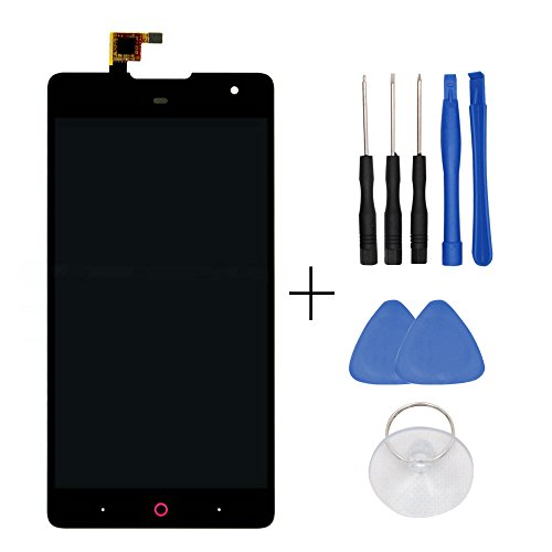 LCD Display and Touch Screen Digitizer Glass Replacement Full Assembly for ZTE Nubia+free Tools Black (ZTE Z7 Max NX505J)