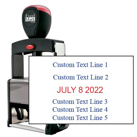 Date Stamp Self Inking Heavy Duty
