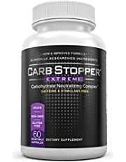 Carb Stopper Extreme Maximum Strength, All-Natural Carbohydrate and Starch Blocker Weight Loss Supplement | Absorb Fat with White Kidney Bean Extract Diet Pills & Starch Blocker Pills, 60 Capsules