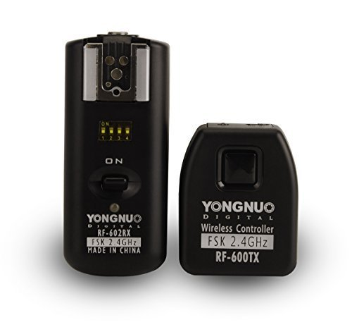 (YONGNUO RF-602/C 2.4GHz Wireless Remote Flash Synchronized Trigger Remote Control for Canon 580EX II, 580EX, 540EZ, 520EZ, 430EZ, 430EX, 420EX, 420EZ, 380EX Cameras)