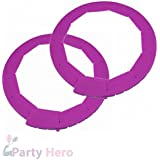 """Party Hero Silicone Pie Crust Shield Adjustable Pie Protectors, BPA-free Silicone   8.5"""" - 11.5"""" Pie Pan Baking Dish, Purple (2 Pack) - Heat Resistant up To 446 Degree"""