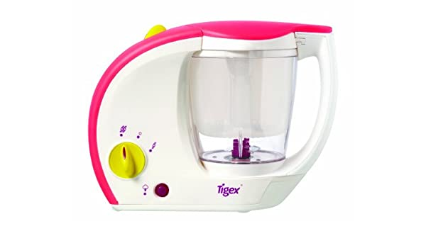 Tigex Bebé Gourmet - Cocedor a vapor/batidor, color blanco: Amazon.es: Bebé