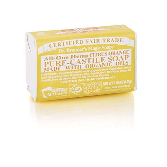 (12 PACK) - Dr Bronner - Org Citrus Soap Bar | 140g | 12 PACK BUNDLE by Dr. Bronner 1 (12 PACK) - Dr Bronner - Org Citrus Soap Bar | 140g | 12 PACK BUNDLE 140g