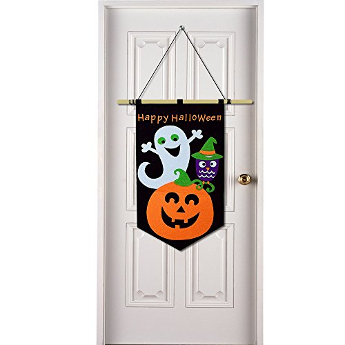 Happy Halloween Decoration Trick or Treat Hanging Door Banner Family Friendly Party Multicolor