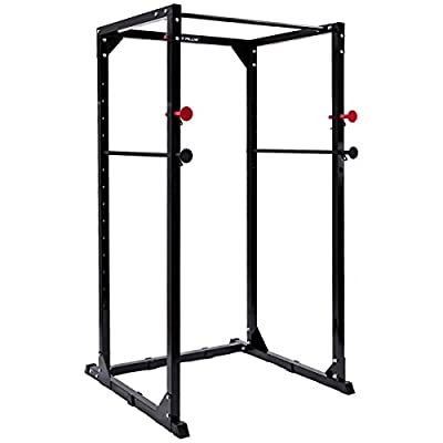 Gymax Power Cage Rack Adjustable Heavy Duty Fitness Squat Cage Rack for Home Gyms