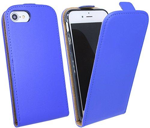 Handytasche Flip Style für IPHONE 7 in Blau Klapptasche Hülle @ Energmix