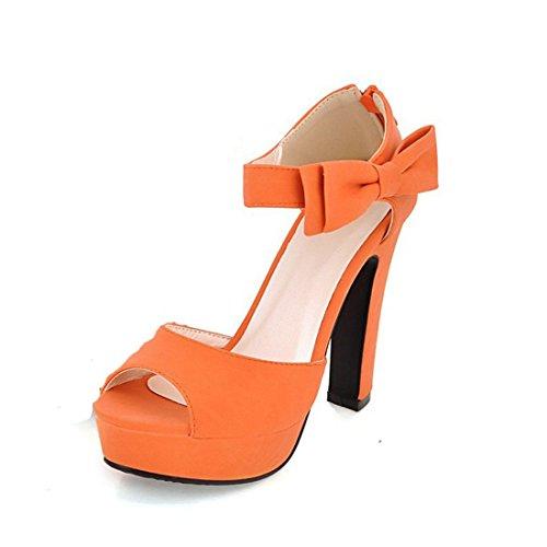 El Sandalias de de Pulsera con Mujer Orange Tacón para Sandalias Banquete Verano Sandalia Mujer S4PxYq