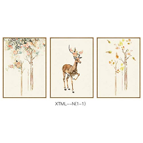 - STTS Fortune deer modern Jane European animal pattern exquisite home living room bedroom porch decorative painting,C,3040cm