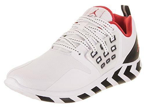 Jordan Men's Lunar Grind Training Shoes (13, White/Red/Black)
