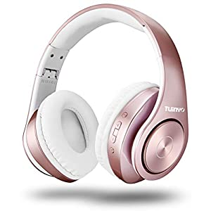 Best Epic Trends 41Wl3eyWTsL._SS300_ Bluetooth Headphones Wireless,Tuinyo Over Ear Stereo Wireless Headset 35H Playtime with deep bass, Soft Memory-Protein…