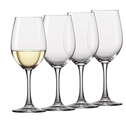 Circleware 44317 Red White Wine Glasses, Set of 4, Drinking Glassware for Water Juice, Beer, Liquor and Best Selling Kitchen & Home Decor Bar Dining Beverage Gifts, 15.75 oz, Rimini