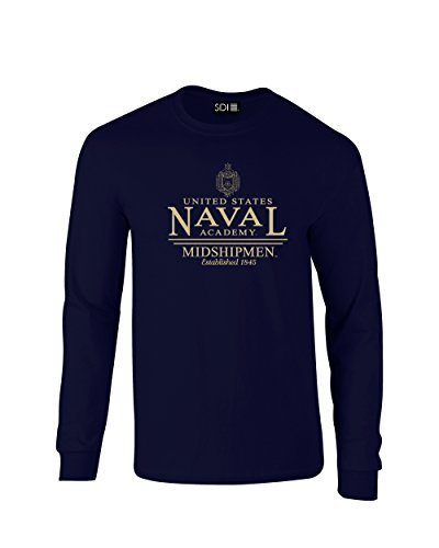 NCAA Navy Midshipmen Classic Seal Long Sleeve T-Shirt, X-Large, Navy
