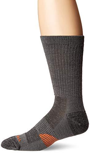 Merrell Men's 1 Pack Cushioned Lightweight Hiker Crew Socks, Smoke Pearl, Shoe Size: 9.5-12
