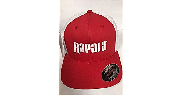 NEW Rapala Flex Fit Fishing Cap  Black//White Mesh Center Logo RFFC203