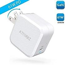 急速充電器 Attikbiz 充電器 Type-c 61W PD USB-C 電源アダプタ 【最小サイズ/PD3.0 互換性あり/GaN...