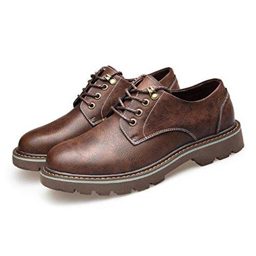 Da In Stivali Stringate Da Pelle Martin Shoes Scarpe Work Punta Casual Coffee Ufficio Uomo Derbys Business Tonda HGDR fxA5wvS