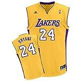 ADIDAS Los Angeles Lakers Kobe Bryant Replica Basketball Jersey, Yellow, XXL