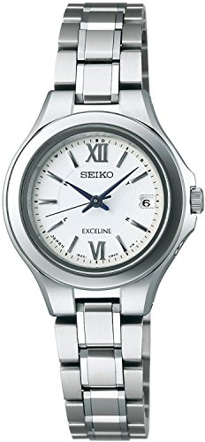 SEIKO watch EXCELINE Exceline solar radio Modify sapphire glass super clear coating for everyday life waterproof titanium-resistant metal allergy COMFOTEX Gong follower Tex SWCW033 Ladies